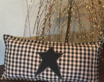 Primitive Star Throw Pillow, Lumbar Pillow