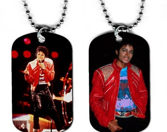DOG TAG NECKLACE - Michael Jackson #3 King of Pop Music Star Singer