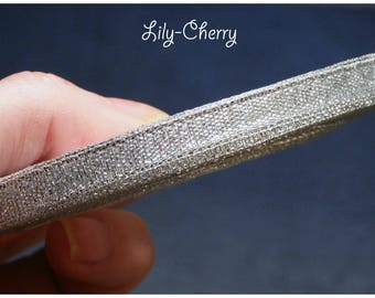 1 meter of Ribbon in satin silver 7mm
