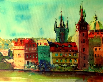 "Watercolor painting 6.40""x9.40""(print of the original)"