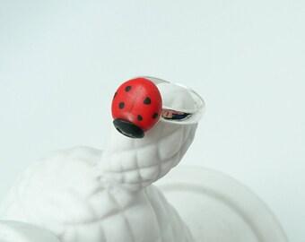 girl Ladybug ring