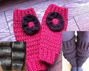 Chunky Classic Leg Warmers Crochet Pattern - Baby, Toddler, Child, Girl, Women sizes - Instant Download - Ballet Yoga Dance Retro 80's