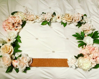 Floral Photo Booth Frame for Weddings, Baby Showers, Bridal Showers & Other Events