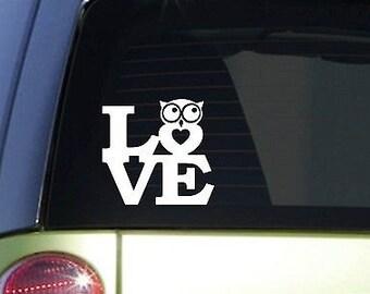 "Owl Love 6"" Sticker *F122* Decal College Girl Sorority Dance Club Owls Friends"