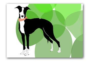 Italian Greyhound Art  - Fine art print, italian greyhound dog, coursing game, racing dog