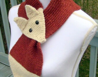 Scarf, Gift for Her, Fox Scarf, Fox, Neck Scarf, Fox Neck Scarf, Foxy Scarf, Knitted Fox Scarf, Foxy Scarf