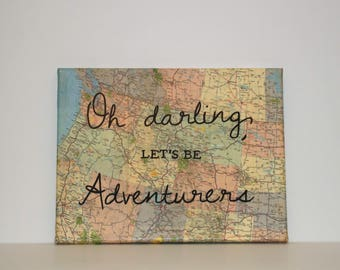 "Map Canvas - ""Oh darling, let's be Adventurers"""
