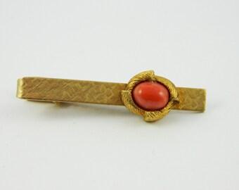 Gold Coral Tie Clip