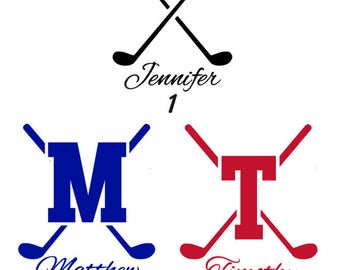 Custom Golf Club Decal
