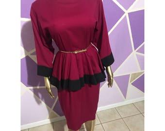 Vintage peplum dress