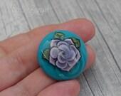 Tattoo Rose, lilac on tur...