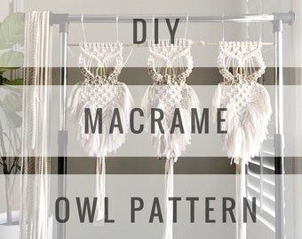 Macrame Owl/Macrame Owl Pattern/Vintage Macrame Owl/Macrame Patterns/Macrame Pattern/Wall Hanging Pattern / Name: A Modern Macrame Owl