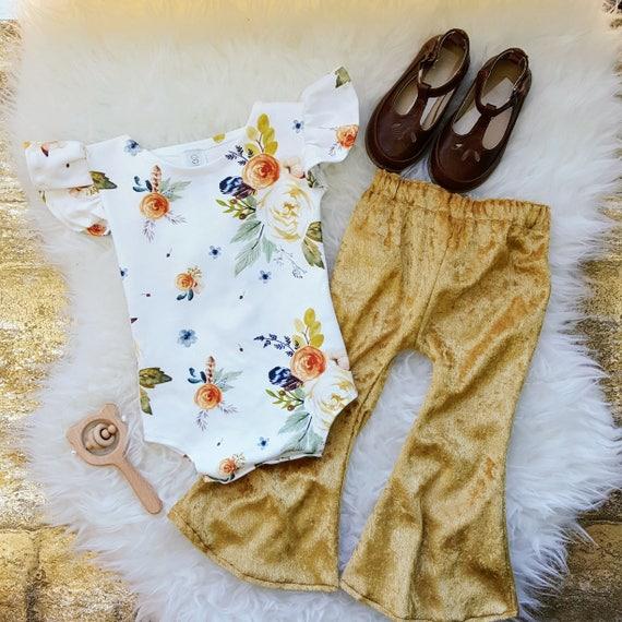Flutter Sleeve Leotard, Baby Girl Bodysuit, Boho Toddler Romper, Organic Knit, Watercolor, Spring Outfit, Baby Girl Romper, Baby Shower Gift