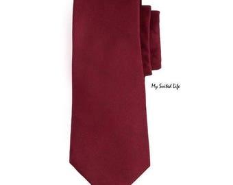 Ruby Red Tie, Men's Necktie, Silk Necktie, Casual Necktie, Business Necktie