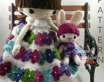 September and her Rabbit- Amigurumi Doll Crochet Pattern PDF