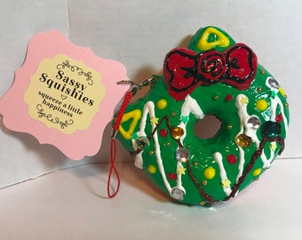 SASSY SQUISHIES Squishy Party Favor Gift Collection Hobby in Biggie Holiday Kitty Donut
