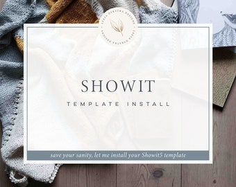 Showit Template Install
