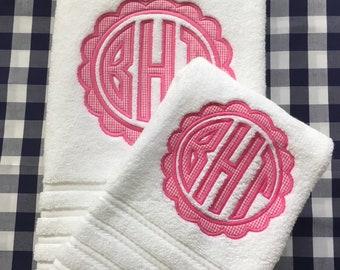 Monogram Applique Towel Set