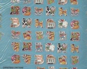 90er Jahre Weihnachten Tierchen Ornamente Bucilla gezählt Cross Stitch Kit 83176 entworfen von Linda Gillum Set von 48 eignet sich für Schmuck oder Magnet