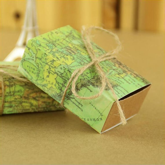 World map cuboid wedding paper favor candy boxes gift boxes gumiabroncs Image collections