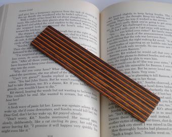 Striped wooden bookmark