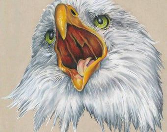 Eagle Colored Pencil Drawing - Art Print