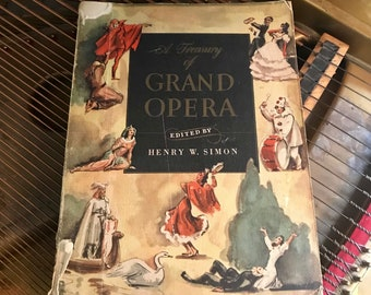 Vintage 1946 Grand Opera Piano Music Book with Summary's