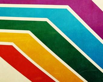 mid century modern // abstract art // nautical photography - Rainbow Hull art print