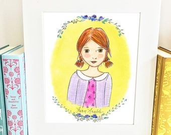 Fern Arable - Charlotte's Web - literary heroine - girls room decor - Limited Edition - HFA