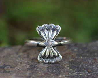 Sterling Silver Stacking Ring Sterling Silver Ring Sterling Silver Butterfly Concho Ring Southwestern Jewelry Bohemian Jewelry Boho Jewelry