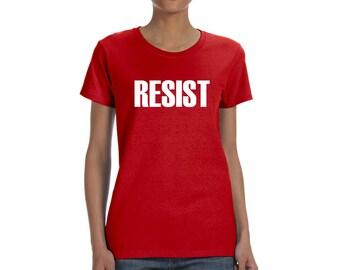 Resist Women's T Shirt Anti Donald Trump Protest Tee Political Rally Resist Trump Tee