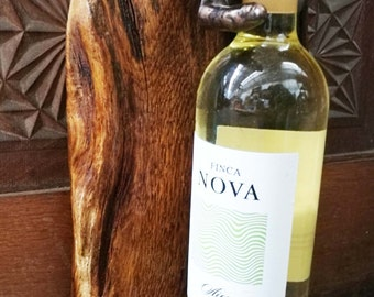 helping hands, wine holder sculpture