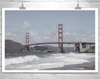Baker Beach Picture, San Francisco Art, Golden Gate Bridge Photograph, Marin County Art, San Francisco Gift, California Art, California Gift