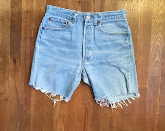 vintage levis 501 daisy duke cut off blue jean shorts made in usa w 31