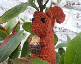 Squirrel Pattern - amigurumi crochet squirrel easy crochet pattern simple crochet pattern easy squirrel pattern amigurumi squirrel pattern