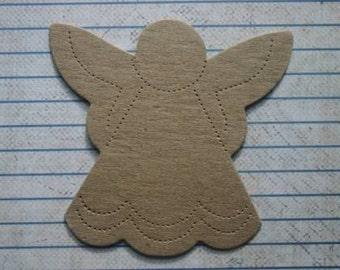 4 Bare chipboard die cuts Stitched Angel Diecuts