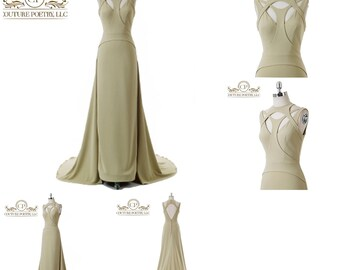 Red Carpet Stretch Evening Gown