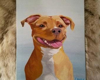 Custom Pet Portrait // Personalized Birthday Gift // Pet Memorial Gift // Pet Art // Dog Lovers // Dog Mom // Pet Loss & Memorial