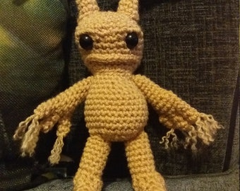 mandrake mandragora creepy cute crochet quirky goth gift idea amigurumi