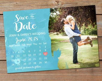 Save the Date Announcement, Save the Date Magnet, Save the Date Postcard, Watercolor Save the Date Announcement, Calendar Save the Date Ann