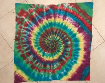 """Tie dye swirl tapestry 35"""" x 35"""""""