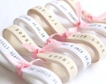 BULK Ribbon . WHOLESALE ribbon . 20 Yards Personalized Twill Ribbon . wedding favors Custom Twill Tape . printed twill ribbon