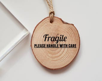 Fragile Please Handle with Care Rubber Stamp