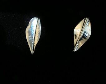 Little Leaf Posts, sterling silver, hand made