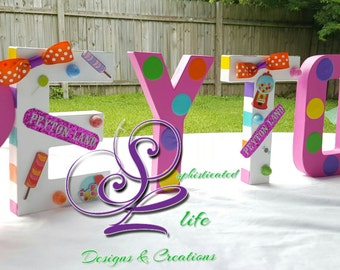 Candyland Birthday Party Candyland Letters Candyland Party Decorations  Candyland Decorated Name Candyland Party Ideas Candyland Theme