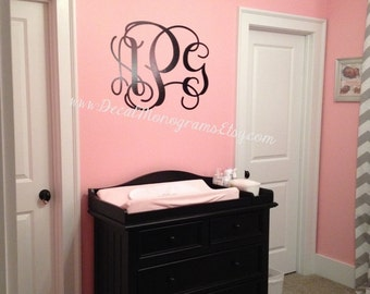 Extra Extra Large Monogram Vinyl Decal