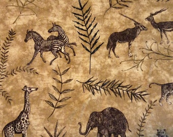 HOME DEC FABRIC / Congo by Waverly / African Animals / Upholstery - Curtains - Pillows - Totes  / 4+ yards Available