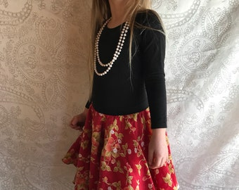 Strawberry circle skirt