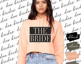 Bride Raw Hem Hoodie (Customizable)