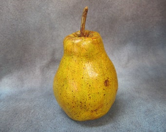 Painted Cloth Pear by TC Folk